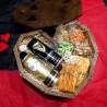 Пивной бокс-сердце на подарок с солеными закусками