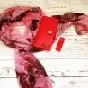 Шарф жіночий червоний N 3