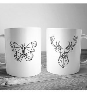 Чашка с геометрическим рисунком