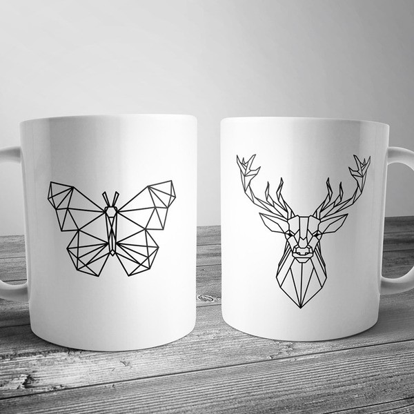 Чашка з геометричним малюнком