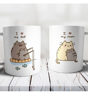 Чашки с принтом для родителей