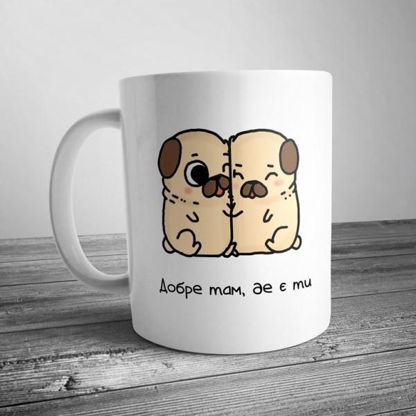 Чашка с щенками купить