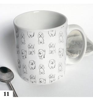 Чашка с собачками черно-белая