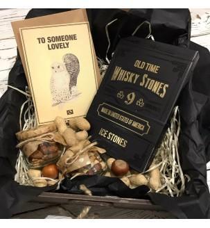 Коробка для алкоголю з камінням для віскі...