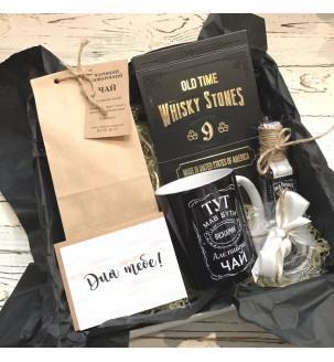 Подарунковий набір чайний з віскі