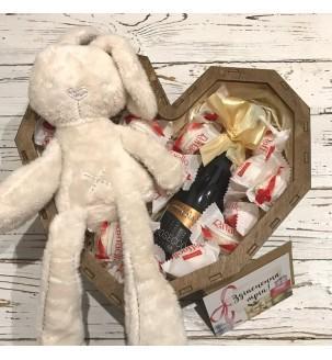Подарунковий набір з зайцем для дівчини №172