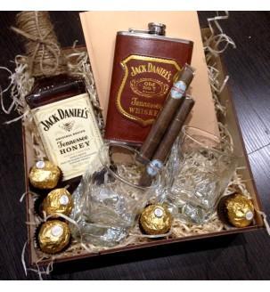 Набір Jack Daniel's з блокнотом та бокалами для чоловіка
