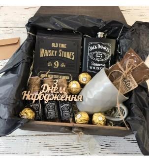 """Подарочный набор для мужчины """"Кофе с виски"""""""