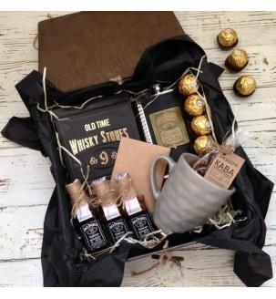 Подарок мужчине оригинальный в наборе N 1 в коробке с кофе