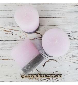 Набір декоративних свічок 3 шт рожеві