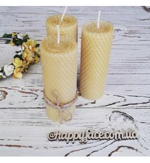 Набір свічок декоративних з натуральної вощини